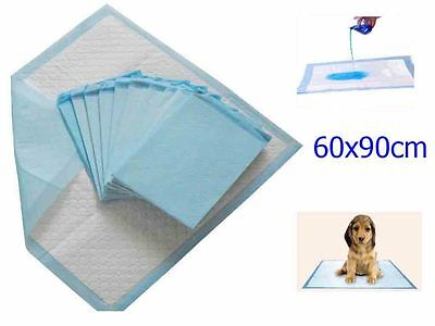 60 x 90 CM LARGE PUPPY DOG PET ANIMAL TRAINING TRAINER PADS TOILET PEE MATS TIDY
