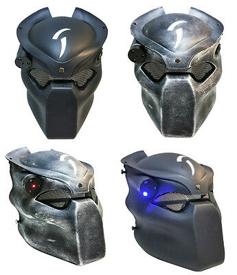 Tactical Alien Vs Predator Airsoft Hunting BB Mask With Four Modes Led Light