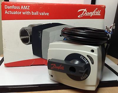 *New Danfoss AMZ 112  Actuator with Ball Valve DN15 On/Off Valve 082G5400