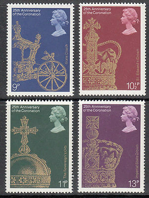 GB MNH STAMP SET 1978 25th Anniversary of Coronation SG 1059-1062 UMM