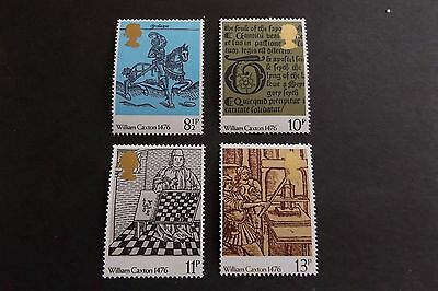 GB MNH STAMP SET 1976 William Caxton Printing SG 1014-1017 UMM