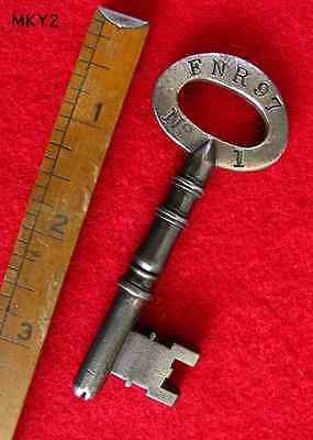Rare Skeleton Key From Victorian UK Old Insane Asylum Mental Hospital A+ Cond.