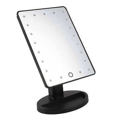 Cosmetic Make Up Illuminated Desktop Table Makeup Stand Mirror with 21 LED Light