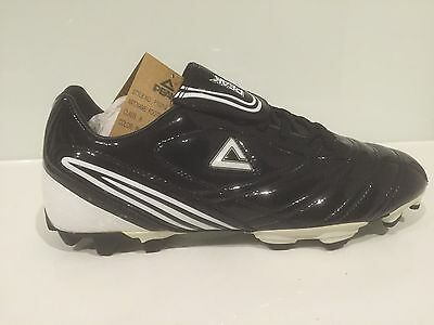 BRAND NEW IN BOX PEAK MENS FOOTBALL BOOTS- Black And White  - SIZE 12