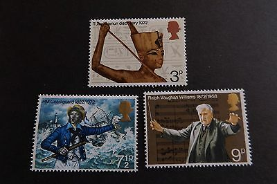GB MNH STAMP SET 1972 Anniversaries SG 901-903 10% OFF FOR ANY 5+