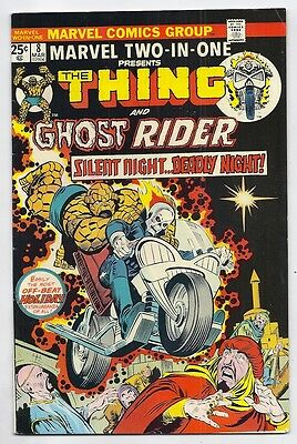 (1974) Marvel Two-In-One #8 Thing And Ghost Rider! Sal Buscema Art! 6.0 / Fine