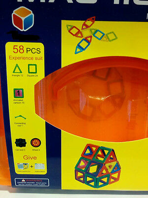 playing magnetic building blocks 58 piece set
