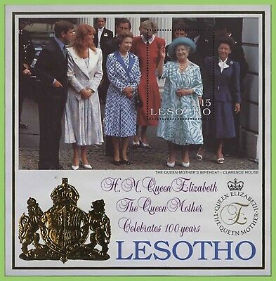 Lesotho 2000 Queen Mother 100th Birthday miniature sheet MNH