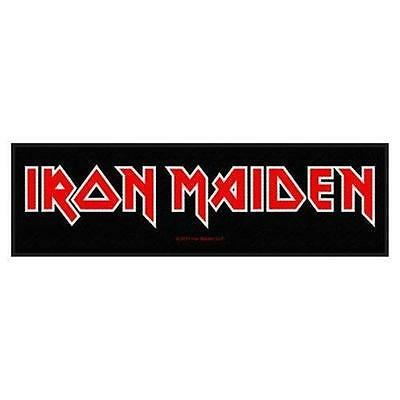 Official Licensed - Iron Maiden - Logo Sew On Strip Patch Metal Eddie