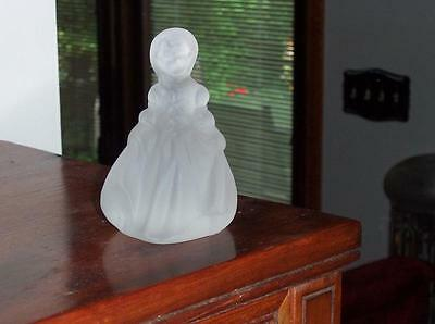 """Heisey Rare #7079 Frosted  Minuet Girl,dinky Do 4 1/2"""" Figurine"""