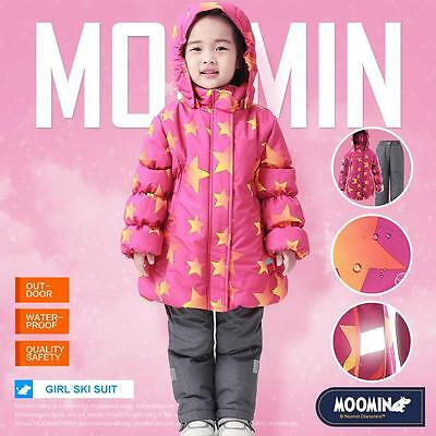 Moomins Kids Girls Winter Ski Suit Snowsuit Snow Suit Coats Trousers Waterproof