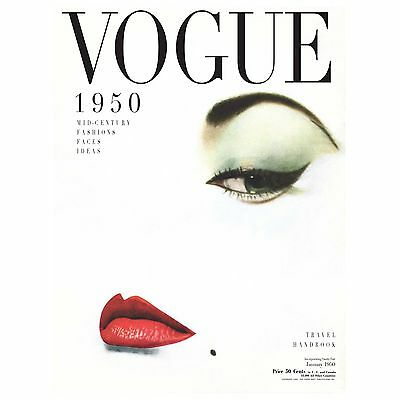 marilyn monroe vogue cover 1950 art print deco vintage painting lips poster