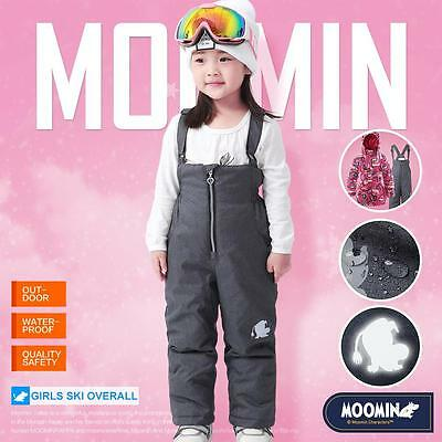 Moomins Girls Ski Pants Winter Trousers Padded Overalls Snow Pants Waterproof