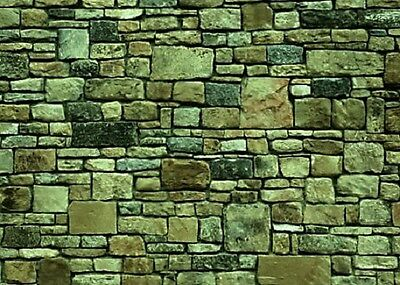 200Mm X 270Mm X 1Mm G Scale Self Adhesive Stone Wall Paper Sheets 2D