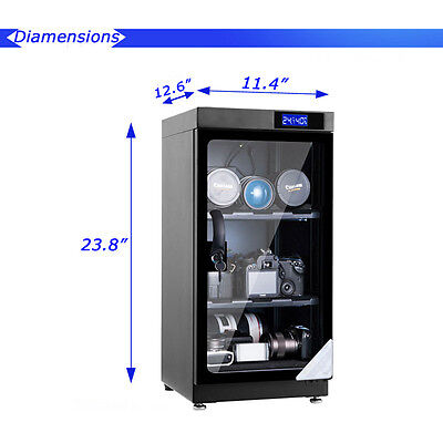 50L Digital Dehumidify Dry Cabinet Box Camera & Lens anti-mold storage 154008NEW