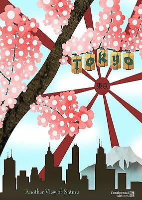 TOKYO JAPAN TRAVEL,A0, A1, A2, A3, Vintage Art Print Painting For Glass Frame