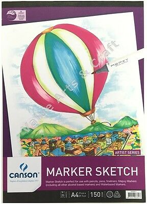 Canson Marker Sketch Pad 150gsm A4, 25 Sheets