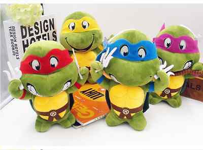 Teenage Mutant Ninja Turtles Plush Stuffed Birthday Baby Toy Set Of 4 Toy