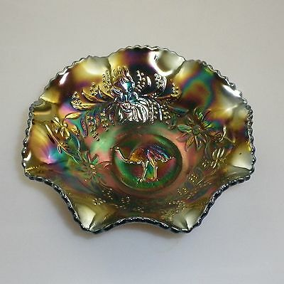 Crown Crystal Amethyst Emu  Nappy Bowl