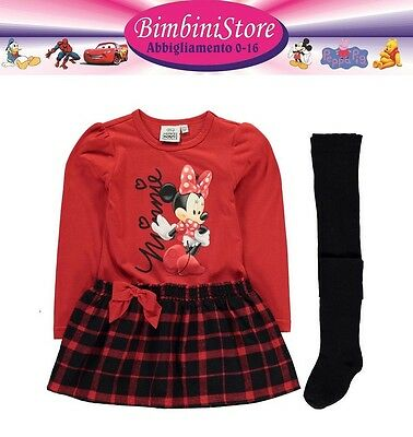 Completo Minnie vestito + collant  originale disney