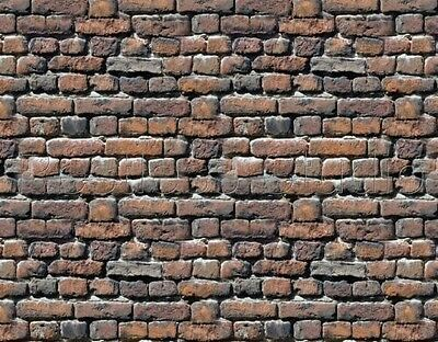 200 X 280 X 1Mm G Scale Bumpy Treated Brick Wall Paper Sheets 3D Look & Feel