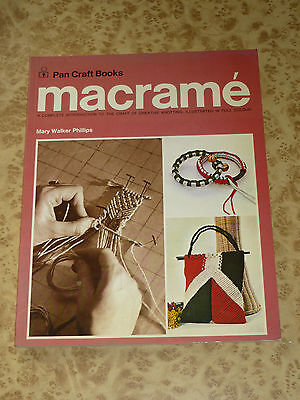 MACRAME By Mary Phillips PAN CRAFT BOOKS ~ Retro Patterns How to Guide