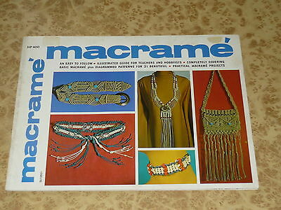 Vintage MACRAME EASY TO FOLLOW GUIDE Book Paulin & Gick Patterns 60s 70s Crafts