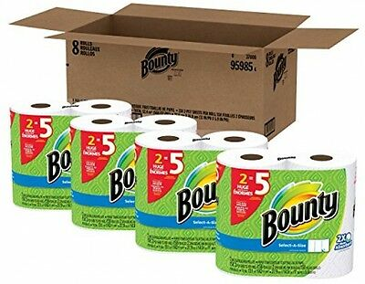 Bounty Select a Size Paper Towels White Huge Roll 8 Count Longer Lasting Brand
