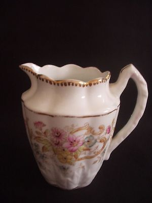 Victorian Milk/cream Jug -Attractive Floral Pattern With Gilding
