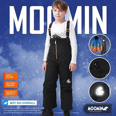 Moomin Kids Boys Ski Pants Winter Trousers Overalls Skiing Pants Snowsuit Wadded