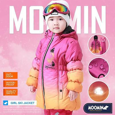 Moomins Kids Girls Winter Ski Jacket Snow Coat Clothes Outerwear Warm Wadded