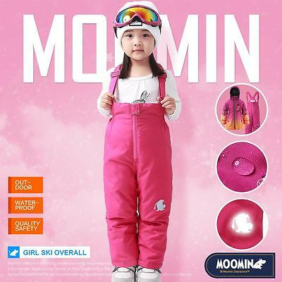Moomins New Kids Girls Ski Pants Winter Trousers Overalls Wadded Warm Waterproof