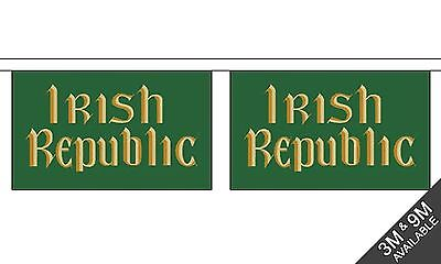 IRISH REPUBLIC 3 metre BUNTING 10 FLAGS flag EASTER RISING IRELAND EIRE