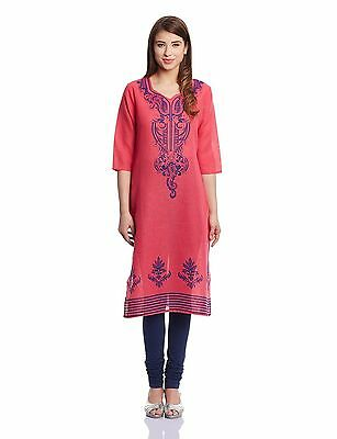 Bollywood Cotton Kurta Indian Designer Women Ethnic Kurti Casual Tunic Dress