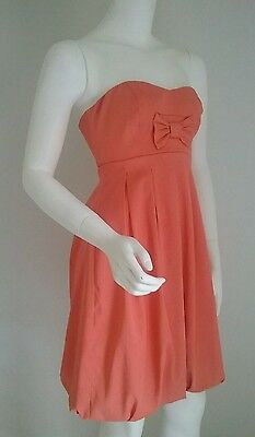 Ladies beautiful DOTTI dress size 8 formal wedding cocktail peach bubble