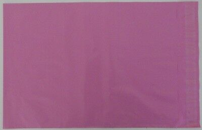 """Pink Coloured Poly Postal Bags Parcel Bags Large Letter 250X350mm 10 x 14"""" Mail"""