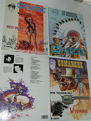 LOT 3 BD COMANCHE 1983-1991 HERMANN et GREDG red dust GUERRIERS wyoming LOMBARD