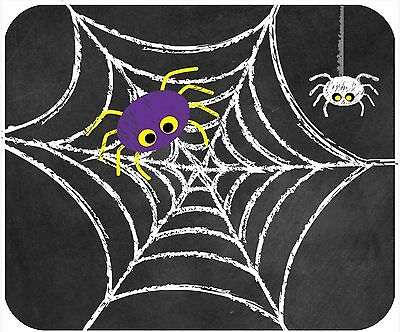 Mouse Pad Custom Personalized Thick Mousepad-Chalkboard Halloween Spider On Web