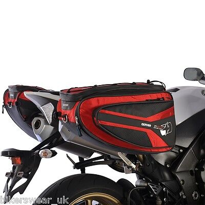 OXFORD P50R Panniers Red Lifetime Motorcycle Luggage Sports Bag 50L OL316
