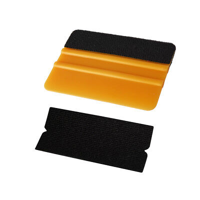Gold Squeegee Vinyl Application Fitting Tool with ONE Replacement Fabric Felt