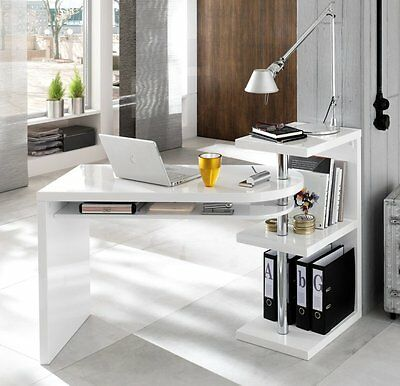 innovativer schreibtisch onyx hochglanz weiss b rotisch 120cm tisch b ro eur 249 95 picclick de. Black Bedroom Furniture Sets. Home Design Ideas