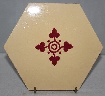 "Minton Hollins - Antique Hexagonal 6 1/2"" Patterned Tile - c1868"
