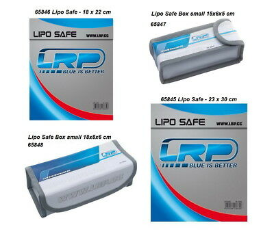 LRP LiPo Box/Bag/Safe 23x30cm/65845 / small 15x6x5/65847 / large 18x8x6/65848