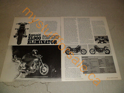 1985 KAWASAKI ZL900 ELIMINATOR article / ad