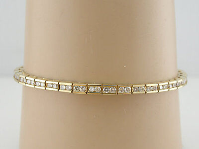 Vintage 19.14ct Diamond Tennis Bracelet, Classic and 14k Gold Over for Stacking