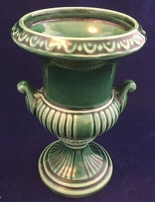 "Vintage Dartmouth Pottery 67C  5"" Urn Vase In Green"