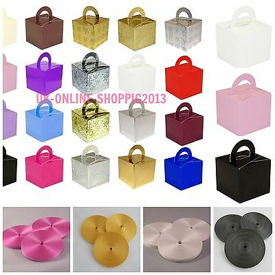 10 Cake Box Helium Balloon Weights Wedding Christening Birthday Party baloons