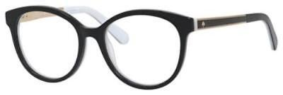 KATE SPADE Eyeglasses CAYLEN 0S0T Black White 50MM