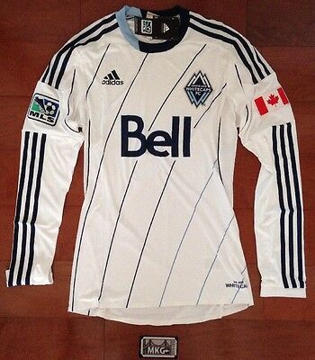 adidas MLS Vancouver Whitecaps FC Authentic (as worn by player) LS Jersey Mens S