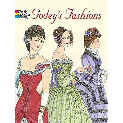 FREE 2 DAY SHIPPING: Godey's Fashions Coloring Book (Dover Fashion Coloring